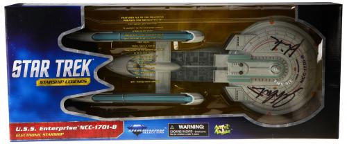 William Shatner Autographed Star Trek Enterprise Ship with Kirk Inscription - Beckett COA