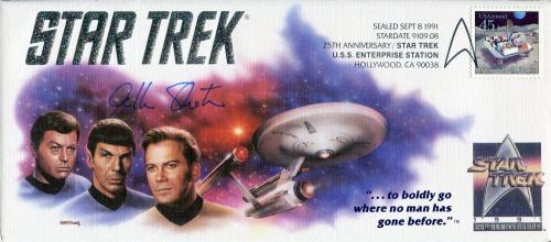 William Shatner Autographed Star Trek First Day Cover Envelope