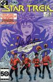 William Shatner Autographed Star trek - January 1986 issue #22 Comic Book - Beckett COA