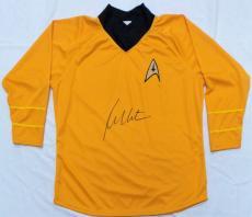 William Shatner Autographed Star Trek Shirt JSA Authentication.