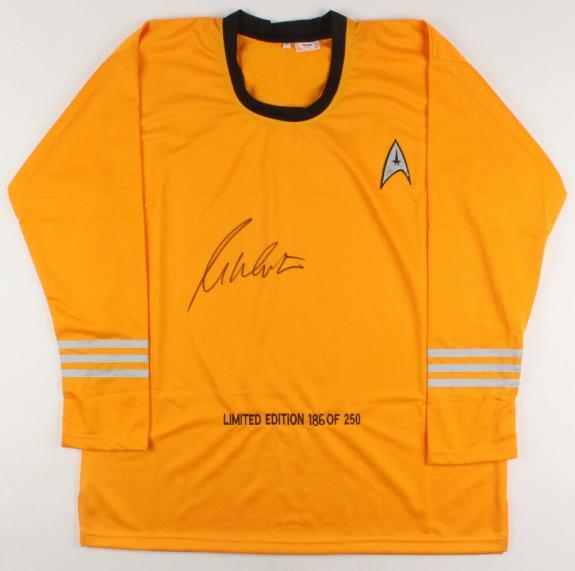 William Shatner Autographed Star Trek Uniform Shirt (capt. Kirk) - Psa Dna!