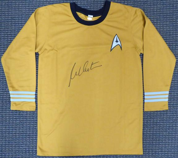 William Shatner Autographed Star Trek Uniform Shirt JSA Stock #159209