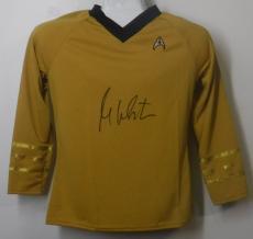 William Shatner Autographed Star Trek Yellow Rubbies Size L Shirt 14760 Jsa