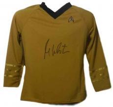 William Shatner Autographed Star Trek Yellow Rubbies Size Xl Shirt 14693 Jsa