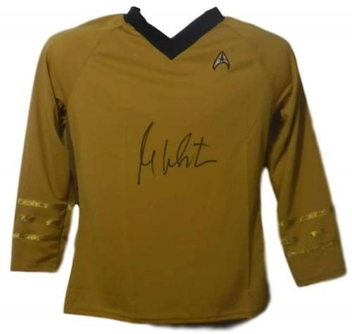 William Shatner Autographed Star Trek Yellow Rubbies Xl Shirt 14693 Jsa