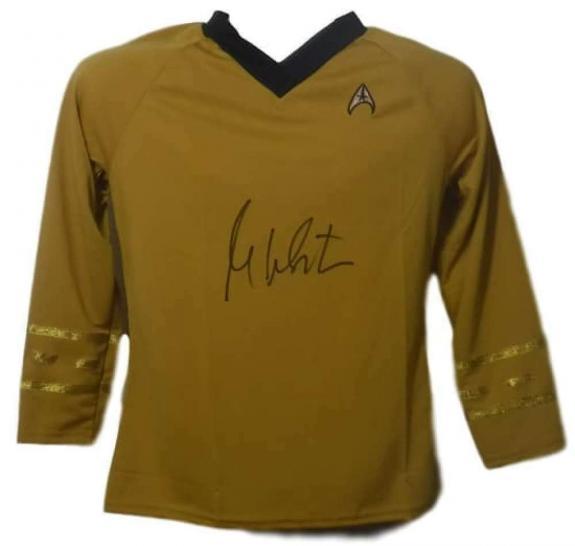 William Shatner Autographed Star Trek Yellow Rubbies XL Shirt JSA 14693