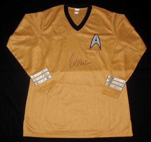 William Shatner Autographed Uniform Shirt (star Trek - Capt. Kirk) - Jsa Coa!