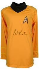 William Shatner Autographed Yellow Stark Trek Uniform - Beckett COA