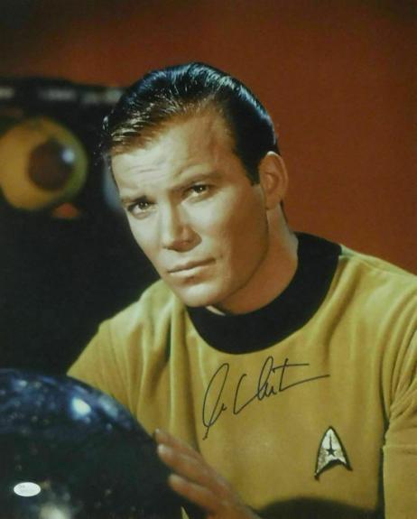 William Shatner Autographed/signed Star Trek 16x20 Jsa 14888