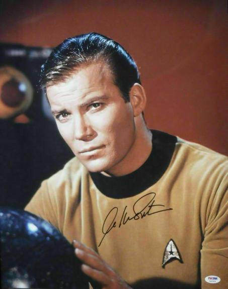 William Shatner Autographed/Signed Star Trek 16x20 Photo PSA 10158