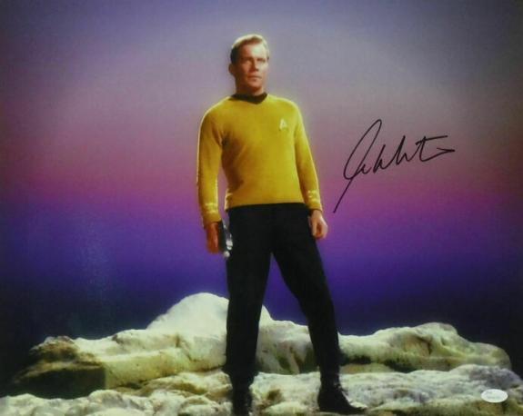 William Shatner Autographed/Signed Star Trek 16x20 Planet Space JSA 14470
