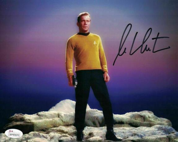 William Shatner Autographed/Signed Star Trek 8x10 Photo JSA 14689
