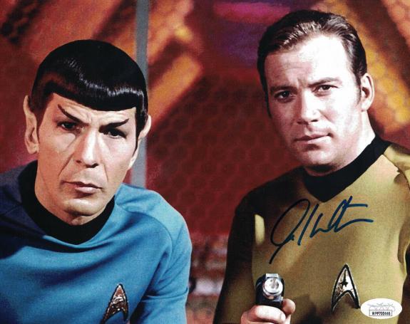 William Shatner Autographed/Signed Star Trek Captain Kirk 8x10 Photo JSA 25390