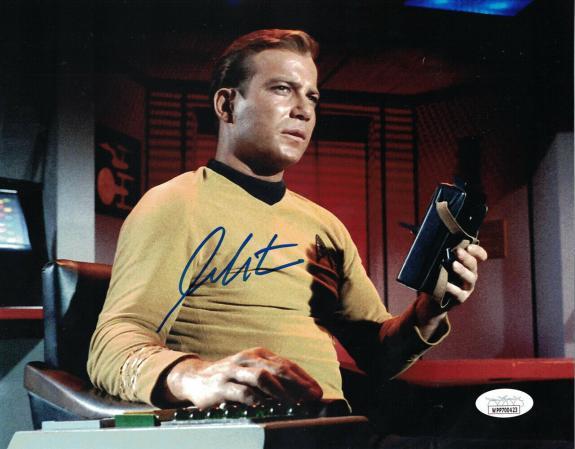 William Shatner Autographed/Signed Star Trek Captain Kirk 8x10 Photo JSA 25392