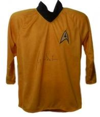 William Shatner Autographed/signed Star Trek Yellow Uniform Shirt 14469 Jsa