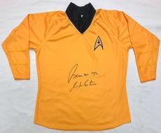 "William Shatner ""Beam Me Up"" Autographed Star Trek Shirt JSA Authentication"