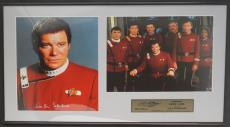 William Shatner (Capt. Kirk- Star Trek) signed/framed limited edition display.