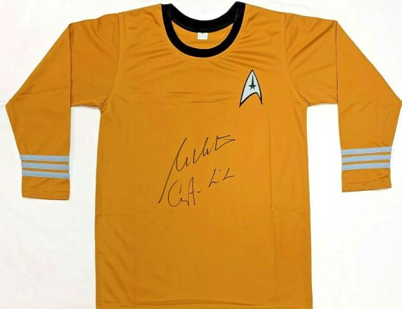 "William Shatner ""Captain Kirk"" Autographed Star Trek Shirt JSA Authentication 2"