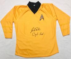 "William Shatner ""Captain Kirk"" Autographed Star Trek Shirt JSA Authentication"