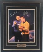 William Shatner Captain Kirk & Leonard Nimoy Spock Signed Star Trek 31x25 Frame