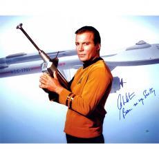 William Shatner Captain Kirk Signed 16x20 star trek photo auto INS Steiner COA