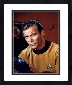 William Shatner Captain Kirk Signed 16x20 star trek photo auto Steiner COA