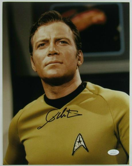 William Shatner Captain Kirk Signed Auto Autograph 11x14 Star Trek Photo JSA Wit