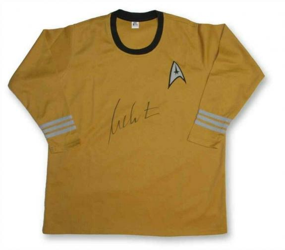 William Shatner Captain Kirk Star Trek Uniform Shirt Authentic BAS COA AFTAL