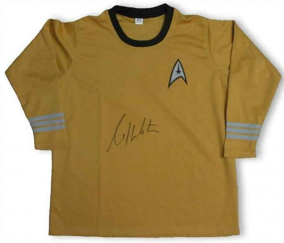William Shatner Captain Kirk Star Trek Uniform Shirt Beckett Authentic BAS COA
