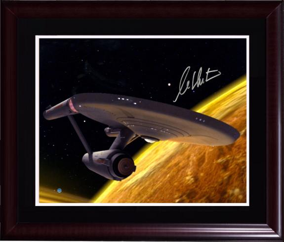 William Shatner Cpt Kirk Signed 16x20 star trek photo auto framed Steiner COA