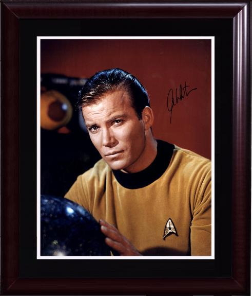 William Shatner Cpt Kirk Signed 16x20 star trek photo framed auto Steiner COA