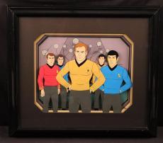 William Shatner George Takei James Doohan Star Trek Signed Animation Cell - JSA