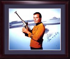 William Shatner Kirk Signed 16x20 star trek photo framed auto INS Steiner COA