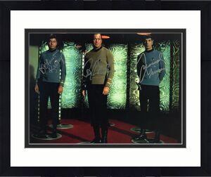William Shatner Leonard Nimoy Deforest Kelley Star Trek Signed 8x10 Photo Rare!