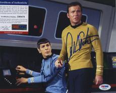 William Shatner & Leonard Nimoy Psa/dna Star Trek Signed Autographed Color Photo