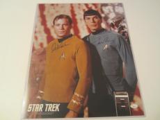 William Shatner Leonard Nimoy Signed Autographed Star Trek 16x20 Photo JSA COA