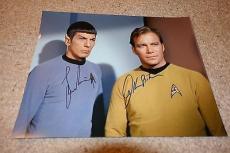 William Shatner & Leonard Nimoy Star Trek Signed 11x14 Autographed Color Photo