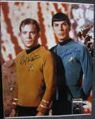 William Shatner Leonard Nimoy Star Trek signed 16x20 Photo PSA/DNA + JSA COA