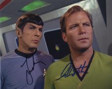 William Shatner & Leonard Nimoy Star Trek Signed Autographed Color Photo