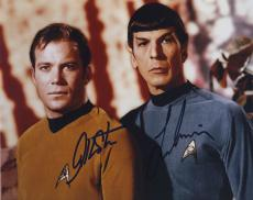 William Shatner & Leonard Nimoy Star Trek Signed Autographed Color Photo