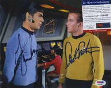 William Shatner & Leonard Nimoy Star Trek Signed Autographed Psa Dna Photo
