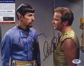 William Shatner & Leonard Nimoy Star Trek Signed  Psa/dna Photo Z99446
