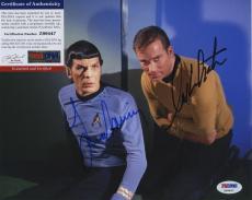 William Shatner & Leonard Nimoy Star Trek Signed  Psa/dna Photo Z99447