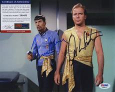 William Shatner & Leonard Nimoy Star Trek Signed  Psa/dna Photo Z99452