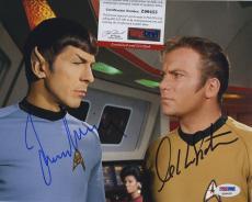 William Shatner & Leonard Nimoy Star Trek Signed  Psa/dna Photo Z99455