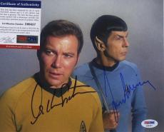 William Shatner & Leonard Nimoy Star Trek Signed  Psa/dna Photo Z99457