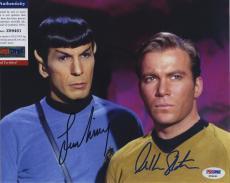 William Shatner & Leonard Nimoy Star Trek Signed  Psa/dna Photo Z99461