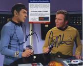 William Shatner & Leonard Nimoy Star Trek Signed  Psa/dna Photo Z99465