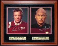 William Shatner & Patrick Stewart Autographed Framed Double 8x10 Photo
