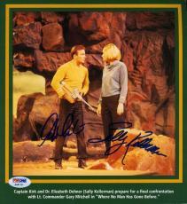 William Shatner Sally Kellerman Psa/dna Signed Star Trek 8x8 Photo Autograph